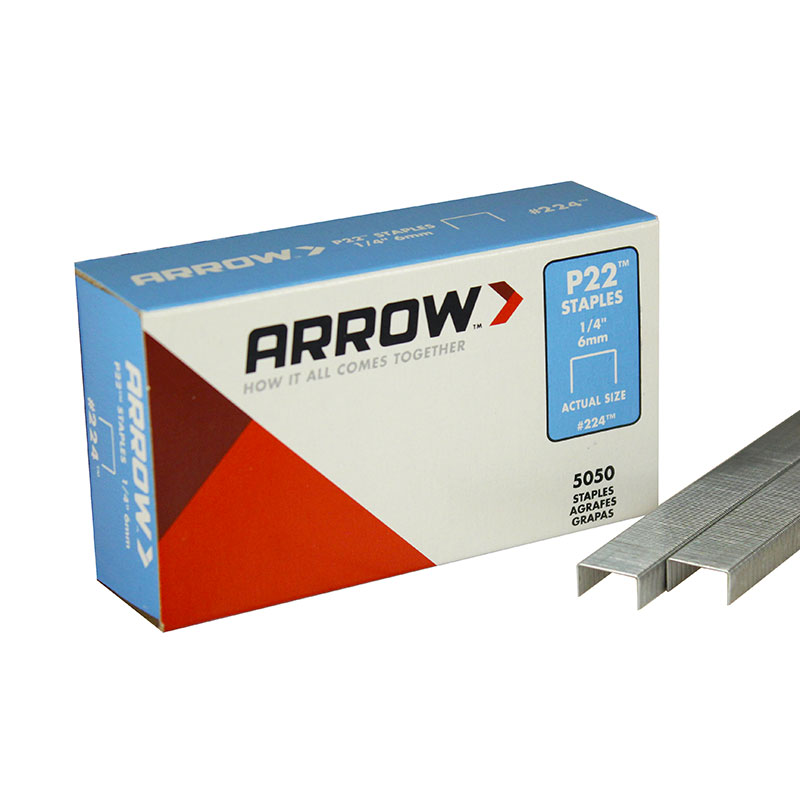 "Arrow P22 1/4"" Staple P221/4"