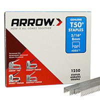 "Arrow T50 5/16"" Staple T505/16-1.25PK"