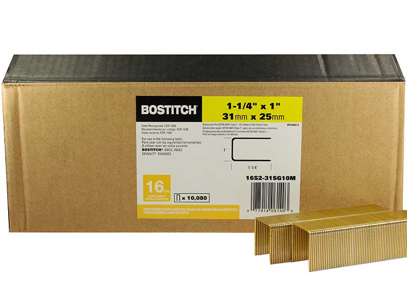 Construction Staple, Stanley Bostitch 16S2-31G
