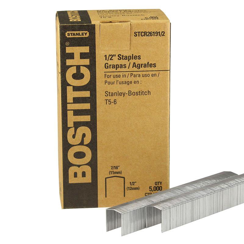 Finewire Power Crown Staple, Stanley Bostitch STCR261912