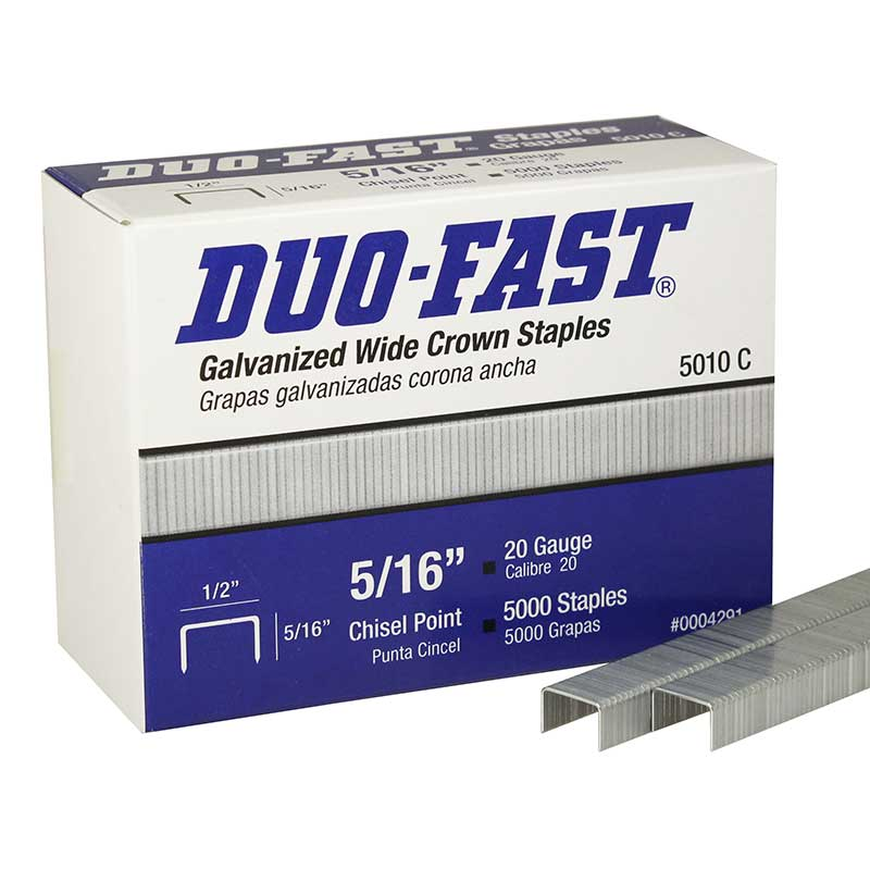 "5010-C Duo-Fast 5/16"" Galvanized Wide Crown Staple 5010C-5M"