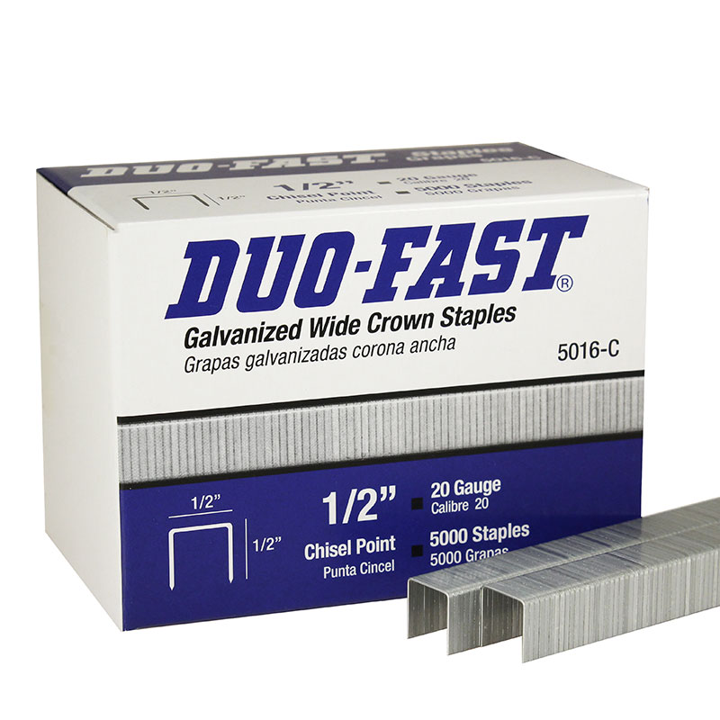 "5016-C Duo-Fast 1/2"" Galvanized Wide Crown Staple 5016C-5M"
