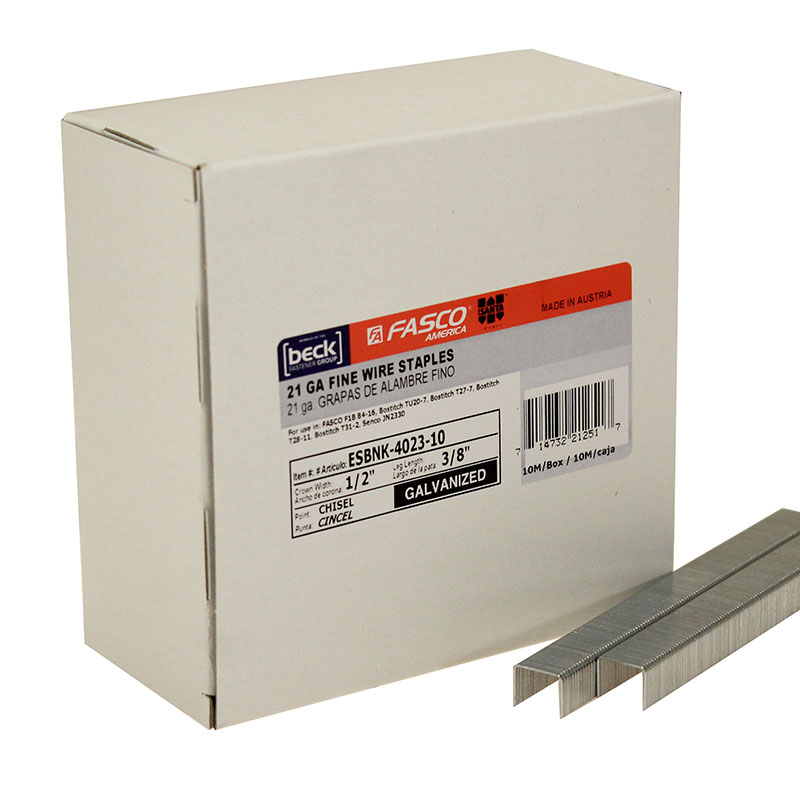 "Fasco ESBNK4023-10 3/8"" Fine Wire Staple SBNK40233/8-v"