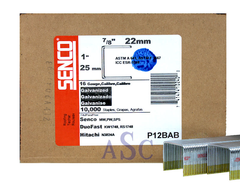 Senco P12BAB Heavy Wire Staple P12BAB