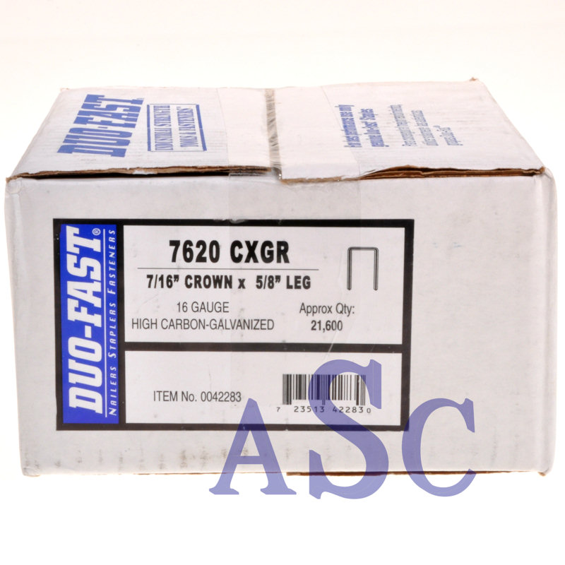 "7620CXGR Duo-Fast 5/8"" Heavy Wire Staple 7620CXGR-5/8"