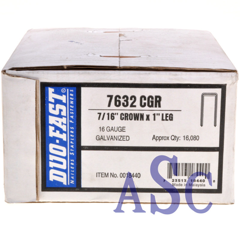 "7632CGR Duo-Fast 1"" Heavy Wire Staple 7632CGR-1"