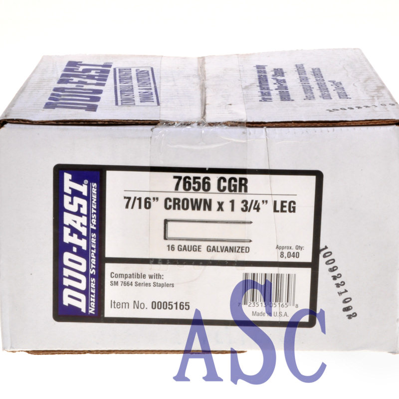 "7656CGR Duo-Fast 1-3/4"" Heavy Wire Staple 7656CGR-13/4"